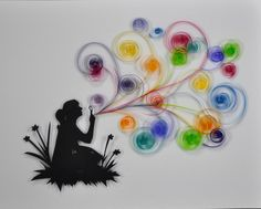 Blowing Rainbows by Marlitto on Etsy,
