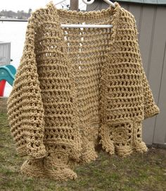 Tan Sweater/Shrug by mlyrec2010 on Etsy, $40.00