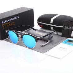 BARCUR Round Glasses for Women Classic Sun glasses Men Fashion Plastic Frame Sunglass 2018 gafas De Sol