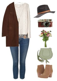 """""""Untitled #2679"""" by lbenigni ❤ liked on Polyvore featuring Franco Sarto, Dex, Alessandra Rich, Band of Outsiders, Boglioli, Billabong, H&M, Chloé and Leica"""