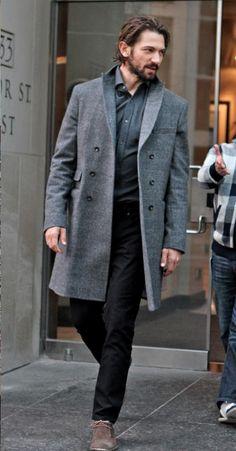 Michiel Huisman in his J BRAND Tyler Slim Fit in Black.