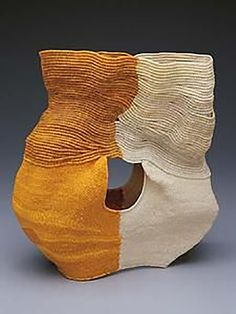 Ferne Jacobs   coiled waxed linen thread vessel