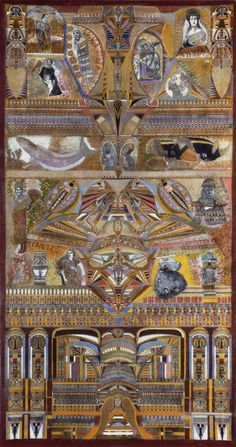 LESAGE.Augustin.0874 Art Cobra, Augustin Lesage, Art Visionnaire, Symmetry Art, Mural Painting, Art Paintings, Art Brut, Visionary Art, Paris