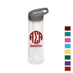 Now available Alpha Sigma Alpha... Shop http://manddsororitygifts.com/products/alpha-sigma-alpha-water-bottle-mono-pers?utm_campaign=social_autopilot&utm_source=pin&utm_medium=pin