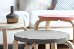 concrete stools | Concrete design | interior | Beton design | betonlook | www.eurocol.com