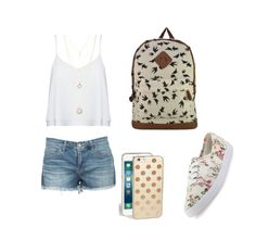 """""""School cool"""" by ted71270 ❤ liked on Polyvore featuring Alice + Olivia, Charlotte Russe and Kate Spade"""