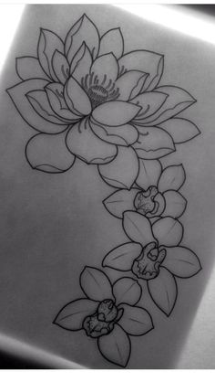 Tattoo Lotus Flower Sleeve Thigh Piece 58 Ideas For 2019 Design Tattoo, Tattoo Sleeve Designs, Flower Tattoo Designs, Tattoo Flowers, Drawing Flowers, Lotus Flower Drawings, Lotus Flower Tattoos, Flower Tattoos On Shoulder, Flower Outline Tattoo