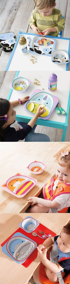 High Quality Baby Kids Children Safe tableware Zoo Animal Melamine Dishes Plate Square