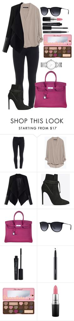 """""""Untitled #1350"""" by fabianarveloc on Polyvore featuring Paige Denim, Zara, Relaxfeel, Yves Saint Laurent, Hermès, Ray-Ban, Smashbox, MAC Cosmetics, Marc by Marc Jacobs and women's clothing"""
