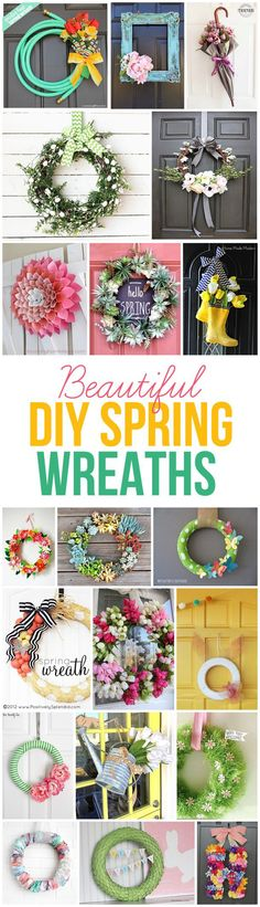 Beautiful DIY Spring Wreaths to Make! - landeelu.com