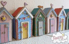 Ceramic beach huts by Flossy Teacake.