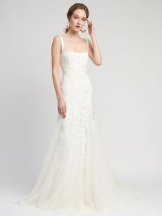 Alexandra Grecco Wedding Dresses From Fall 2020 Bridal Fashion Week Plus Wedding Dresses, Wedding Dress Trends, Bridal Dresses, Wedding Gowns, Reception Dresses, Modest Wedding, Lace Wedding, Wedding Aisles, Wedding Week