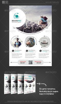 Magic Circle II - Corporate Flyer Template , fit for multipurpose.- photography , studio, multimedia, salon, beauty...