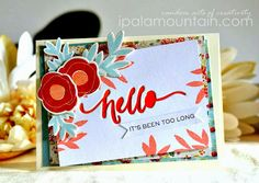 Stamp Away With Me: Hand Lettered Hello