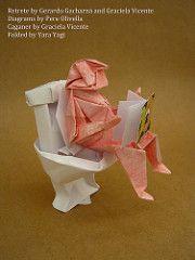 Retrete by Gerardo Gacharná and Caganer by Graciela Vicente (Yara Yagi) Tags: origami caganer retrete gracielavicente gerardogacharná