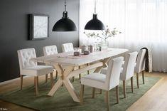S.O.U.L.-sisustuskonseptin Copenhagen-ruokapöytä ja Verdon-ruokatuolit.