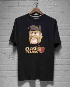 Barbarian King tee shirt for men plus size Clash of Clans gaming t shirts-