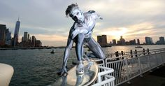 Halloween Costumes | Silver Surfer Seen In The Streets Of New York Cute #pranks #funny #prank #comedy #jokes #lol #banter