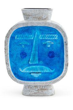 """Jonathan Adler Turquoise Monsieur 10"""" Vase"""