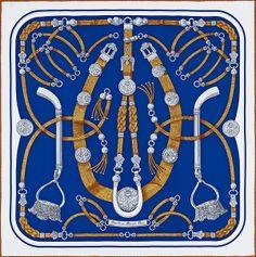 Hermes Foulard Carre Scarf Tuch Gaucho Caty Latham Ed soie Vintage 2013 Silk Scarves, Hermes Scarves, Gaucho, Hermes Online, Textiles, Hermes Paris, Designer Scarves, Scarf Design, Birkin