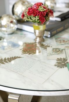 DIY Christmas Card Table