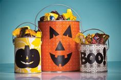 Ghoulish Trick-or-Treat Cans - Halloween #DIY How-To!