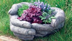 Cupped Hands ~ A fabulous water bowl, planter, or statue. But darn, only available in the UK.