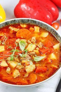 Zupa gulaszowa. Zupa gulaszowa. Thai Red Curry, Food And Drink, Ethnic Recipes, Garden, Garten, Lawn And Garden, Gardening, Outdoor, Gardens