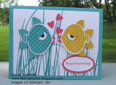 Fish card with ornament punch