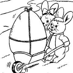 Conejitos de Pascua fotos dibujos para colorear  Conejito de