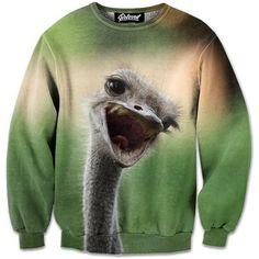Cheerful Ostrich Sweatshirt