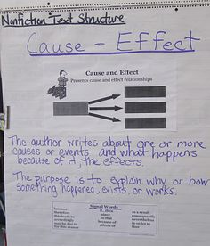 Text Structure: Cause-Effect