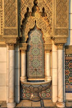 Beautiful architecture in Pakistan - Cultural Architecture Cultural Architecture, Art Et Architecture, Mughal Architecture, Beautiful Architecture, Mosaic Design, Pakistani Culture, Putrajaya, Beautiful Mosques, Moorish