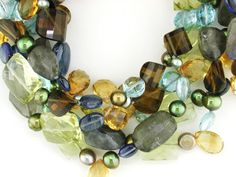 5-strand Chunk Necklace by Ruth Taubman