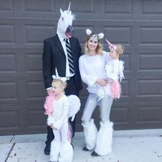 """Unicorn family""  HAHA here: Just saw this on my Pinterest home page and it made me laugh nonstop. So I just had to save it. hahahahahahahahaha LOL LOL LOL"