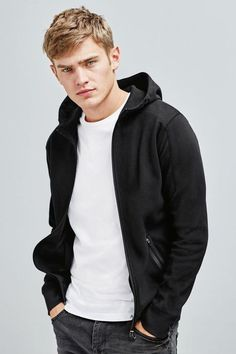 Short Hair Man, Bo Develius, Hooded Jacket, Bomber Jacket, Blonde Guys, Photography Poses For Men, Male Beauty, Haircuts For Men, Fall 2015