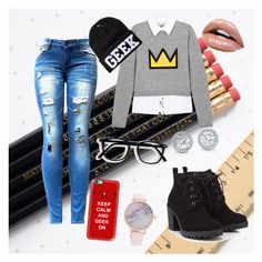 """""""¤Geek On¤"""" by paibear ❤ liked on Polyvore featuring Alice + Olivia, Red Herring and Casetify"""