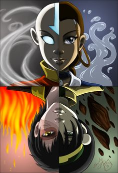 TFC - Avatar - Four Elements by *direndria