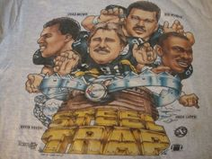 VTG NFL Pittsburgh Steelers Rod Woodson Greg Lloyd Caricature 1994 T shirt XL #PittsburghSteelers