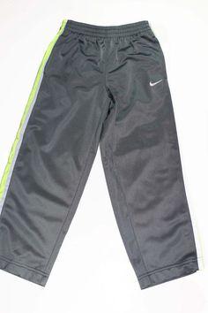 6ed036b73 NEW NIKE Boys Yellow Dark Grey Athletes Running Long Track Pants Bottoms Sz  5  Nike