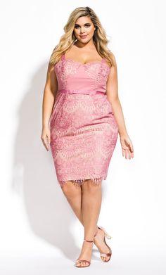 City Chic Jolie Lace Dress in Pink Floral Playsuit, Floral Maxi Dress, Midi Dresses, Bridesmaid Dresses, City Chic, Plus Size Dresses, Plus Size Outfits, Plus Size Kleidung, Fashion Styles