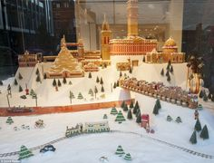 bf24afa8cf923 Selfridges Christmas Windows Selfridges unveils fantasy cityscape made of  GINGERBREAD for display