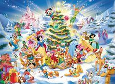 Puzzle Ravensburger de 100 Piezas Navidades Disney