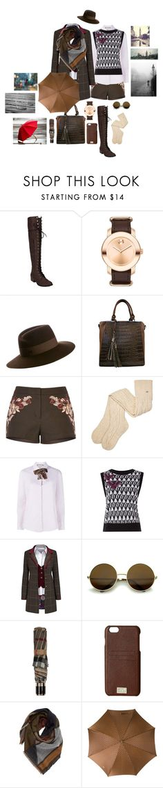 """Runway shorts"" by mbarbosa ❤ liked on Polyvore featuring Beston, Movado, Maison Michel, BCBGMAXAZRIA, UGG, Gucci, Diane Von Furstenberg, Burberry, HEX and BP."