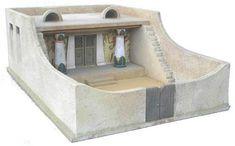 Maqueta de una vivienda egipcia.  #Esmadeco.