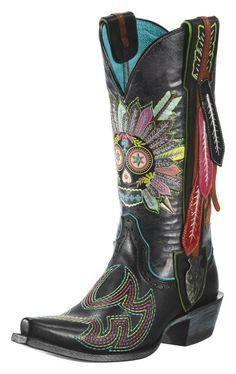 Painted boots make a statement | Cowboy boots, San antonio and ...