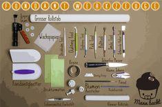 Fondant Werkzeuge – Die Basics