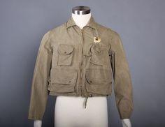 rare vintage 1950s fly fishing jacket.