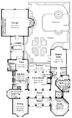 Bartolini - Courtyard Home Plans - Home Plan Styles - Sater Design Collection Plans