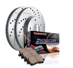 $$$ Cheap Price Power Stop K2934 Front Ceramic Brake Pad and Cross Drilled/Slotted Combo Rotor One-Click Brake Kit